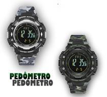 Kit relógio digital masculino militar pedometro original - Weide