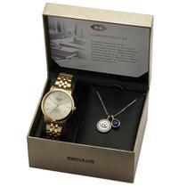 Kit Relógio Feminino Seculus Administração 20944LPSKDS1K1 -
