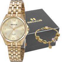 Kit Relógio Feminino Seculus Com Pulseira 20866LPSVDA1K1 -