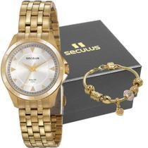 Kit Relógio Feminino Seculus Com Pulseira 20919LPSVDA1K1 -