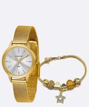 Kit Relógio Feminino Strass Lince LRGH123L KX12S1KX -