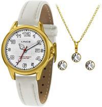 Kit Relógio Lince Feminino Lrch104l kw58 com Calendário -
