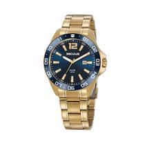 Kit Relógio Masculino Seculus Dourado 20809gpsvda2 -