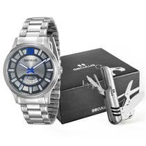 Kit Relógio Masculino Seculus Urbano 28537G0SGNA1-L1 - Prata -