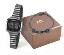 Kit Relógio Mondaine Feminino 53717LPMVPE3K1 com pulseira Digital -