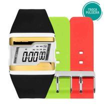 Kit Relógio Mormaii Feminino Troca Pulseiras Digital FZM/T8D -