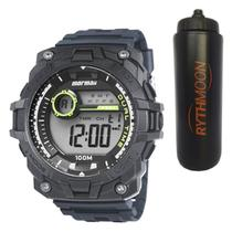 Kit Relógio Mormaii Masculino MO11270CC/8A + Squeeze Automático 1lt - Rythmoon