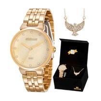 Kit relógio seculus feminino 28860lpskds1k1 -