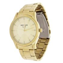 Kit Relógio Seculus Feminino Dourado com Colar 19700 -