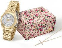 Kit Relógio Seculus Feminino Long Life 20395LPSVDA1K1 -