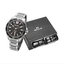Kit Relógio Seculus Masculino 77036G0SVNA3K1 -