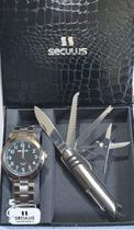 Kit Relógio Seculus Masculino + Canivete 28938Gosvna1 -