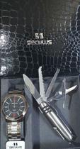 Kit Relógio Seculus Masculino Com Canivete 28922gosvna1 -