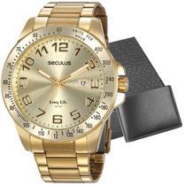 Kit Relógio Seculus Masculino Com Carteira 20854GPSVDA2K1 -