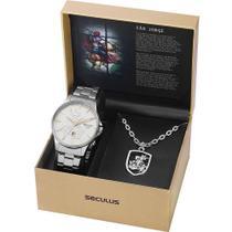 Kit Relógio Seculus Masculino Com Cordão São Jorge 28933G0SKNA2K1 -