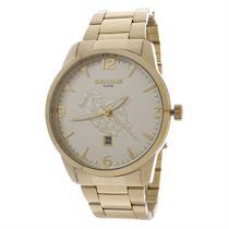 Kit Relógio Seculus Masculino Dourado 5ATM com Pulseira 24985 -