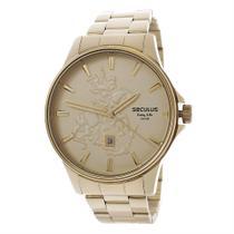 Kit Relógio Seculus Masculino Long Life 5ATM com Colar São Jorge 24986 -