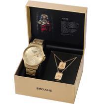 Kit Relógio Seculus Masculino Pai Nosso 28919GPSKDA1K2 -