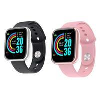 Kit Relógio Smartwatch Fitness Bluetooth Ele e Ela - Bsn
