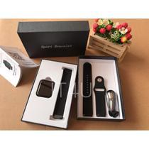 Kit Relógio Smartwatch Preto + 2 Pulseiras + Fone Bluetooth - Smart Bracelet