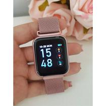 Kit Relógio Smartwatch Rose + 2 Pulseiras + Fone Bluetooth - Smart Bracelet
