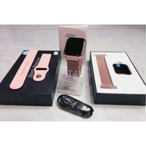 Kit Relógio Smartwatch Rose + 2 Pulseiras + Fone Bluetooth - Wf