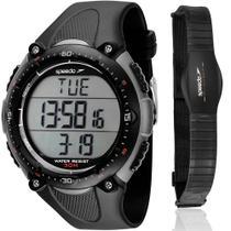 Kit Relógio Speedo Masculino Preto Monitor Cardíaco 80565G0EPNP2 -