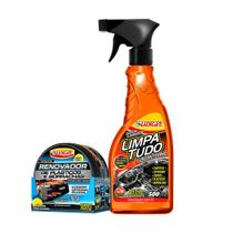 Kit Renovador de Plásticos Borrachas e Limpa Tudo Luxcar -