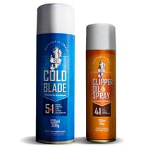 Kit Resfriador e Lubrificante de Lâminas Máquina Corte e Tosa Cold Blade e Clipper Oil - Ferramentas De Barbeiro