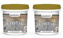 Kit resina epóxi para porcelanato líquido  crystal  1,5kg - Elastment