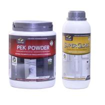 Kit Restauradores piso Pisoclean Pek Powder + Supergloss Lp -