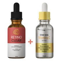 Kit Retino Clear e Vitamina C Original  Premium - Mega Beleza