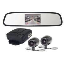 Kit Retrovisor com Câmera Frontal e Câmera Traseira RS 504 BR Roadstar -