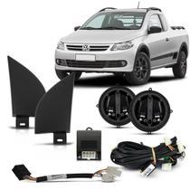 Kit Retrovisor Elétrico Gol Saveiro G5 G6 09 10 11 12 13 14 15 16 2 Portas Sensorisado Com Moldura - Tragial