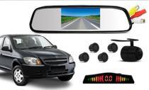 Kit Retrovisor Lcd Camera Sensor De Estacionamento Chevrolet Celta - Oestesom