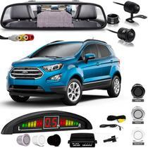 Kit Retrovisor Lcd Camera Sensor De Estacionamento Ford Ecosport - Oestesom