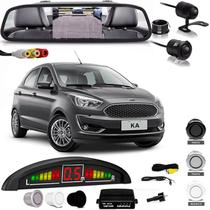 Kit Retrovisor Lcd Camera Sensor De Estacionamento Ford Ka - Oestesom