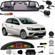 Kit Retrovisor Lcd Camera Sensor De Estacionamento Volkswagen Gol - Oestesom