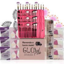 Kit Revenda Atacado Pincel Macrilan Esponja Escovinha Cilios - Glow Pink