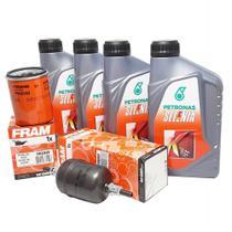 Kit Revisão 4 Litros Óleo 15W40 Semissintético 1 Filtro Óleo 1 de Combustível Palio Siena Strada Punto Idea Doblo Uno Fiorino Fire 2001 até 2012 - Petronas