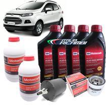 Kit revisão Ford 30.000 Km - Óleo Motorcraft 5W30, filtros e Dot4 - Ford Nova Ecosport 1.6 16V após 2012 -