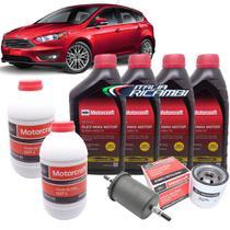 Kit revisão Ford 30.000 Km - Óleo Motorcraft 5W30, filtros e Dot4 - Ford Novo Focus 1.6 16V após 2013 -