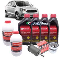 Kit revisão Ford 30.000 Km - Óleo Motorcraft 5W30, filtros e Dot4 - Ford Novo Ka 1.0 e 1.5 após 2014 -
