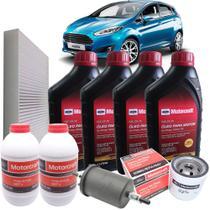 Kit revisão Ford 60.000 Km - Óleo Motorcraft 5W30, filtros e Dot4 Motorcraft - Ford New Fiesta 1.5 e 1.6 após 2013 -