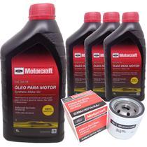 Kit revisão Ford troca de óleo Motorcraft 5W20 e filtros - Ford Focus 1.6 e Novo ka - Italia Ricambi -