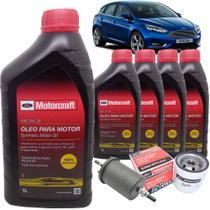 Kit revisão Ford troca de óleo Motorcraft 5W20 e filtros - Novo Focus 2.0 após 2013 - Italia Ricambi -