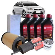 Kit revisão Ford troca de óleo Motorcraft 5W30 e filtros - Focus 1.6 16V 2009-2013 - italia ricambi -