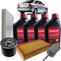 Kit revisão Ford troca de óleo Motorcraft 5W30 e filtros - Focus 1.6 8V Flex Zetec Rocam até 2009 -
