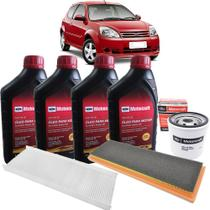 Kit revisão Ford troca de óleo Motorcraft 5W30 e filtros - Ka Zetec Rocam de 2008 até 2013 -