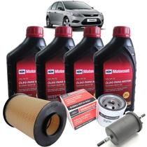 Kit revisão Ford troca de óleo Motorcraft 5W30 e filtros - Novo Focus 1.6 2009-2013 - Italia Ricambi -